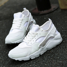New Mens Sports Shoes Running White Black Athletic Sneakers Breathable Brand Men Gym Shoes Spring/Summer Mens Runners Cheap(China)