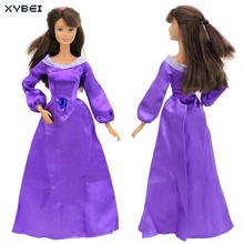 Fairy Tale Handmade Outfit Copy Aladdin Princess Jasmine Dress Purple Skirt Clothes For Barbie FR Kurhn Doll Accessories Gift(China)