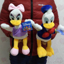 Free shipping 1pair 35cm Stuffed Donald Duck And Daisy Duck,Children Soft Toy For Christmas Gifts