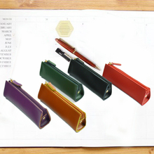 Vintage Genuine Leather Pencil Bag for school Kid Party School Supplies Pencil Cases Gift Korean Pen Bag