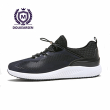 DOLKEARSEN 2017 Black Men Casual Shoes Trainers Camouflage Breathable Net Brand Light Sneakers Men Student Shoes D160801-1(China)