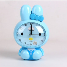 Hot sale wall digital design Home fashion quartz watch round gift kids bedroom color children electronic clock cartoon rabbit XM