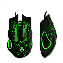 Realiable gaming mouse 2400DPI LED Optical 6D USB Wired Gaming Game Mouse For PC Laptop Game