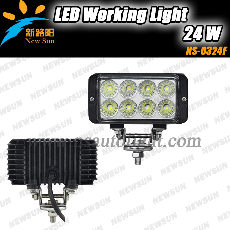 Professional led working lights for factory machines construction vehicles led running lights super bright 24w led working lamp<br>