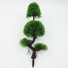 2017 Real New Artificial Pine Bonsai Tree For Sale Floral Decor Simulation Flores Artificiais Desktop Display Of Fake Plants(China)