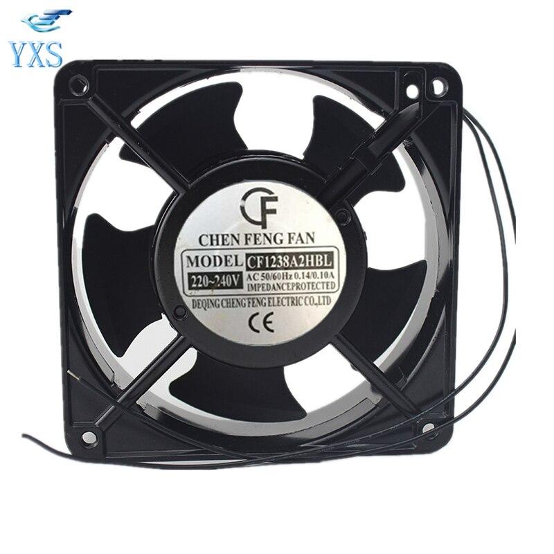 CF1238A2HBL AC 220V-240V 0.14A/0.1A 50/60HZ 12038 12CM 120*120*38mm Silent Cabinet Chassis Cooling Fan<br>