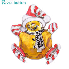 Rivca Snap Button Jewelry Newest DIY 18mm Mixcolour farthe christmas Snap Button Fit Charm leather alloy fashion Bracelet D04042(China)
