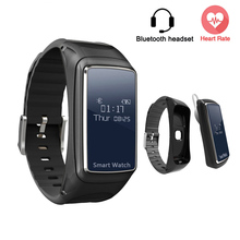 SOROPIN B7 Smart Bracelet Bluetooth Headset Call Heart Rate Monitor Fitness Wristband Watch For Sport VS Xiaomi Mi Band 2 Fitbit(China)