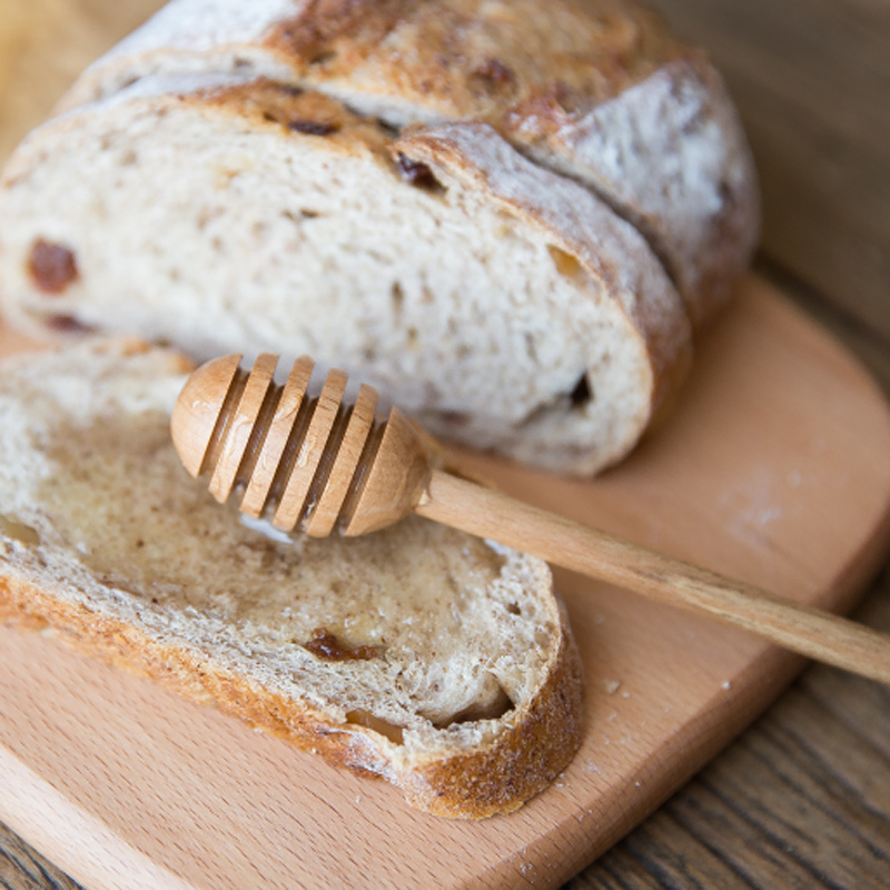 Wooden Honey Spoon Long Handle Beech Wood Honey Dipper Stick Wood Honey Coffee Bar Mixing Spoon Kitchen Utensils Tea Accessories (2)