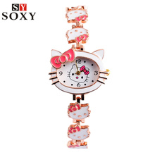 Hello Kitty Watch Kids Watches Cute Children's Watches Girl Cartoon Watch Clock Baby Gift saat montre relogio reloj relojes
