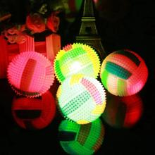 6.5cm Volleyball Flashing Light Up Color Changing Bouncing Hedgehog Ball Kids Toys For Baby Kid LED Random Color LED Gift 5