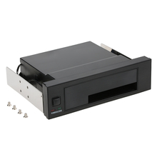 Internal Single Bay Mobile Rack Enclosure with LED Indicator Light Support Hot-swap for 2.5 3.5 inch SATA HDD SSD Fit PC