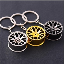 2016 Wheel Rim Model Keychain High Quality Car Key Chain Llaveros Hombre Creative Hub Design Metal Key Ring Cool Gift for Man