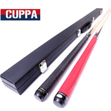 New Cuppa Maple 3/4 Snooker Cues 9.8mm Tip With Snooker Cue Case Set Golf Leather Handle Red Black Color China