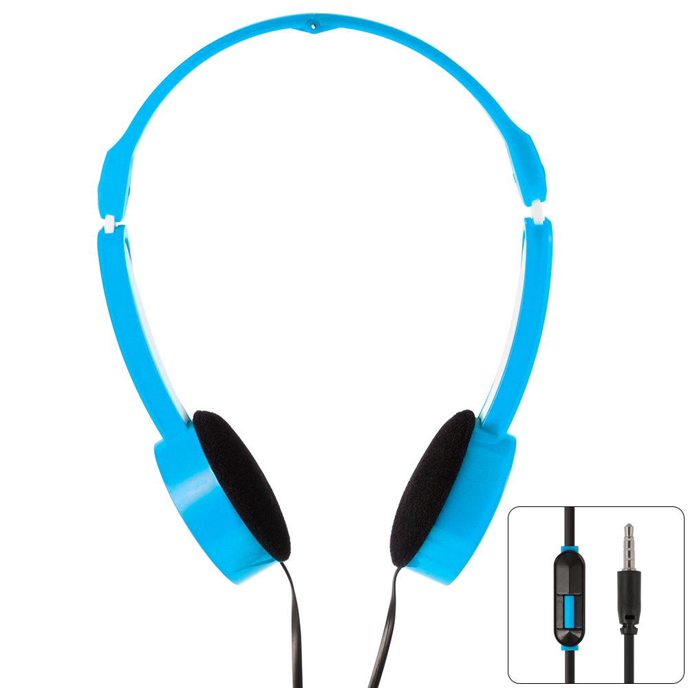 Universal Kids Childs Foldable Over-Ear Earphone Headphone For MP3 Blue TH335-7<br><br>Aliexpress