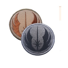 FOX Embroidery patches armband Loop And Hook Military Morale Armband Army Combat Badge The new Jedi order STARWARS patch(China)