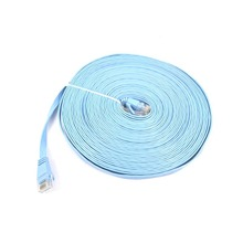 2017 High Quality Sky Blue 15m CAT6 Flat UTP Ethernet Network Cable RJ45 Patch LAN Cable For Router DSL Modem laptop office(China)