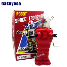 Limited collection  RED Spaceman robot tin toy adult collection toys creative gifts iron toys clockwork toys