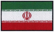 "Iran iron on embroidery flag patches logos 3"" wide /sons anarchy patches/soccer patch/sons of anarchy patches(China)"