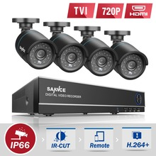SANNCE 4CH HD 1080P 4IN1 CCTV DVR Camera System 4pcs 720P TVI Security Cameras p2p Outdoor Waterproof Surveillance kit