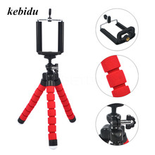 kebidu Universal Octopus MINI Tripod Stand Holder Flexible Tripod Holder for iPhone X 8 7 6 6S plus for Samsung Note 8 s8(China)