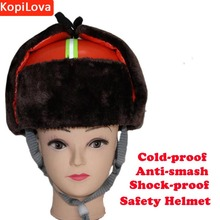 Kopilova Winter Outdoor Orange Cold-proof Safety Helmet Work Protective Training Hard Hat Work Cap for Engineer Construchtion(China)