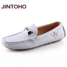 2018 summer moccasins casual men boat shoes slip on mens leather loafers luxury handmade shoes italian casual mens shoes luxury brand men shoes(China)