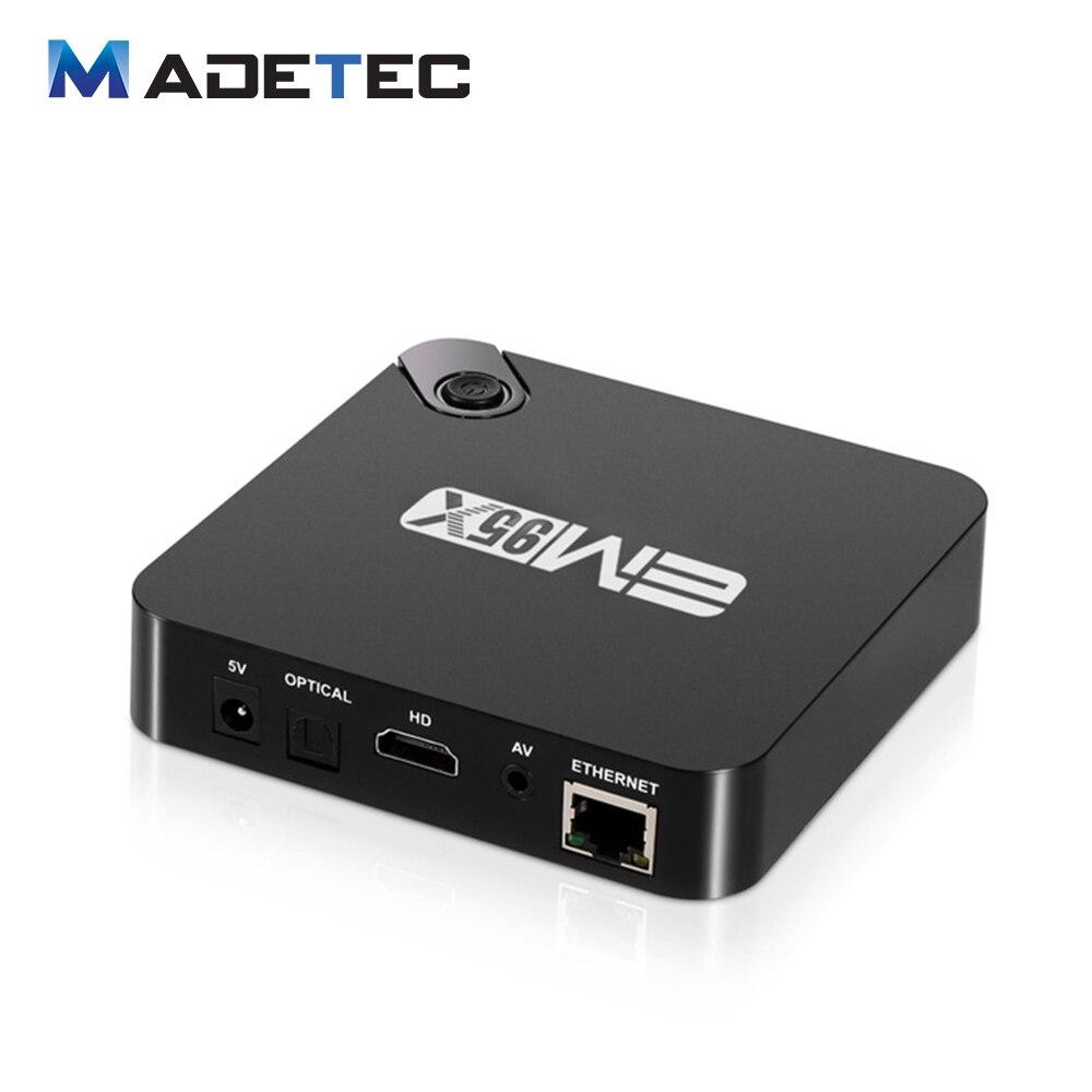 EM95X 1GB / 8GB Android 6.0 TV Box Amlogic S905X Quad Core 64bit KODI16.0 XBMC UHD 4K*2K HDMI Mini PC WiFi DLNA Media PlayerVB80<br><br>Aliexpress
