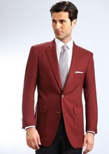 Top Selling Red men's suits the groom wear a suit formal occasio photogenic multiple colors can be customized (Jacket+Pants)(China)