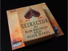 Extractor Card Trick by Rob Bromley(Gimmick+DVD),mentalism,stage magic props, illusions,close-up,comedy,street(China)