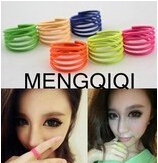 R024 Latest Fashion Cute Summer Hot Spring Spiral Fluorescent Candy Colored Thin Rings Jewelry Factory Direct