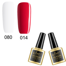 Fashion French Manicure Kit Nail Colour Gel UV Decoration Nails Art White Red Gel Varnish with 1 Free Nail Guide Tips(China)