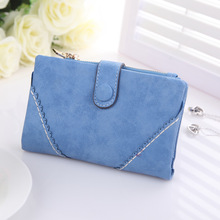 New arrive women medium wallets bag,matte PU leather vintage solid color lady's purse,coin purse.Korean style high quality