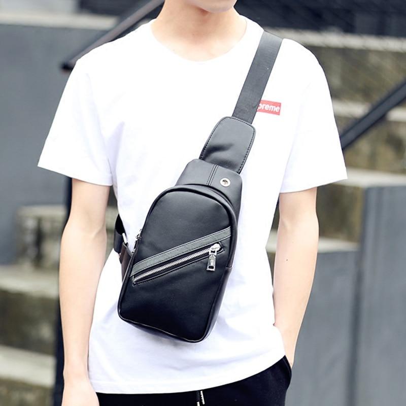 Tidog Korean new mens satchel chest bag business cortical chest bag<br><br>Aliexpress