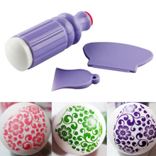 3Pcs/Set Purple Nail Art Stamping Scraper Nail Beauty Decorations Stamper Template Tools Salon Express Polish Stamp ST09(China)