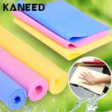 43*32*0.2CM Super Absorption Microfiber Car Care Towel Car Wash Towel Cleaning PEVA Towel Synthetic Suede Chamois Car Styling(China)