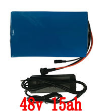 US EU no tax  48v 15ah 1000w  lithium bottle lithium 48V Electric Bicycle Battery with PVC case with 30A BMS and 2A Charger