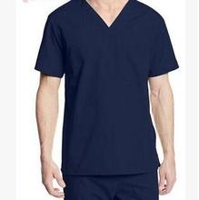 2017 autumn Men Medical Scrub Sets Hospital Doctor Uniforms Dental Clinic Beauty Salon Short Sleeve Surgical Scrubs(China)