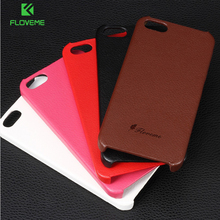 FLOVEME For iPhone 4S Cell Phone Cases Ultra Thin Genuine Leather Case For iPhone 4 4S 4G Back Protective Cover For iPhone 4 4S