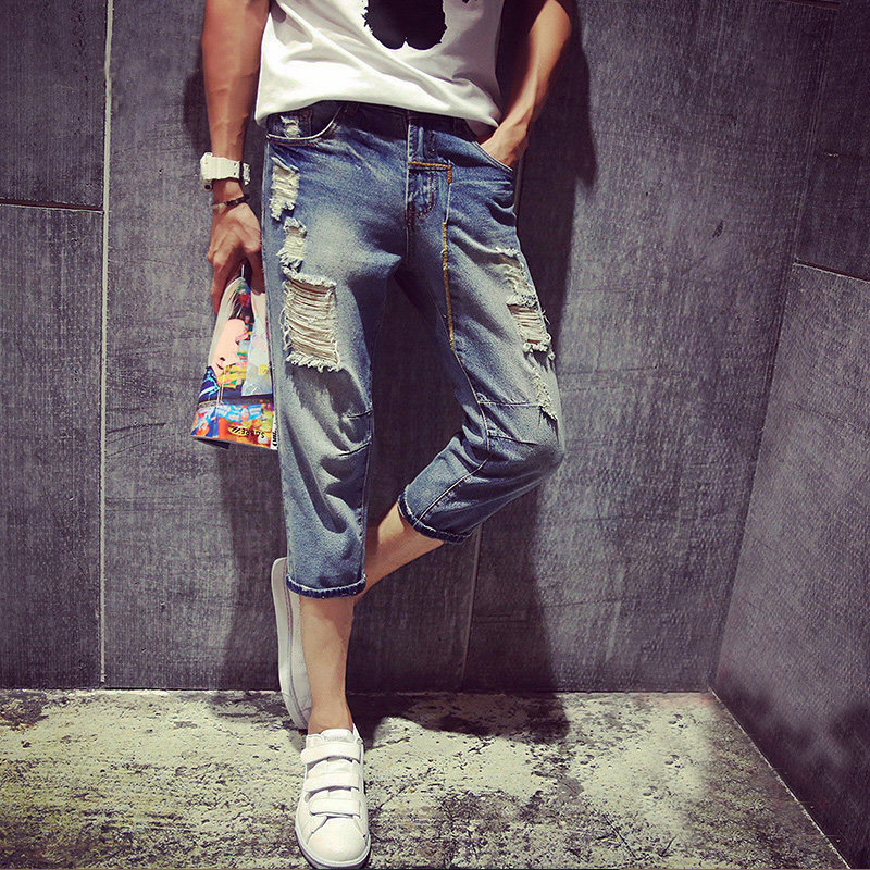 Supreme New Arrivals Fashion Jean Denim Shorts Men Cropped Pants True Cheap China Cowboy Male Trousers Robin Ripped Одежда и ак�е��уары<br><br><br>Aliexpress