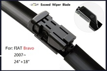 "1 pair(24""+18"")  New High Quality Bexceed of Car Windshield flat wiper blade for FIAT Bravo"