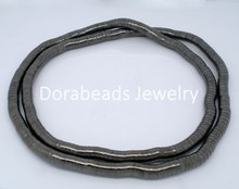 DoreenBeads 2 PCs Gunmetal Flexible Snake Chain Necklaces 105cm (B04545), yiwu