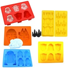 1 PC New  Creative Silicone Star Wars Darth Vader Ice Cube Tray Mold Cookies Chocolate Soap Baking Kitchen Tool VBV78 P50