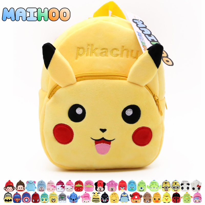 MAIHOO Pokomon Pikachu Children Gifts Kindergarten Boy Backpack Plush Baby School Bags Girls Teenagers Kid Plush Toy Bag mochila(China (Mainland))