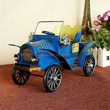 Antique Retro Handmade Car Model Vintage metal craft shooting props Cute Bar/Pub/Cafe/Shop decoration gift Classic ornaments