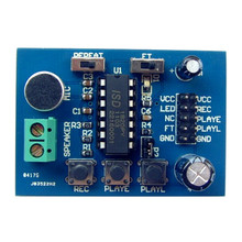 High-quality ISD1820 Voice Module Recording and Playback Module Recorder Sound Board onboard Microphone(China)
