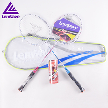 Red And Yellow Lovers Badminton Rackets And 3PCS Shuttlecock Lenwave Brand Sports Training Fitness Equipment