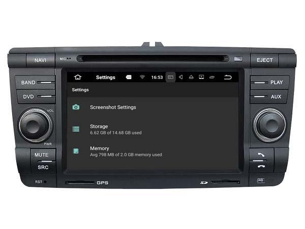 S190 Android 7.1 car dvd gps For SKODA Octavia 2004-2011 Car Audio player navigation head unit device BT WIFI 3G