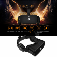 PIMAX 4K UHD VR Virtual Reality Glasses 3D Headset for PC 110 Degree FOV 8.29MP IPD Adjustment Dual Gyroscope Anti Blue Laser