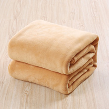 Hot 3 Size Solid Color Warm Soft Cashmere Blanket Student Nap Air Conditioner Blanket Sleeping Mat Home Winter Gift 2017